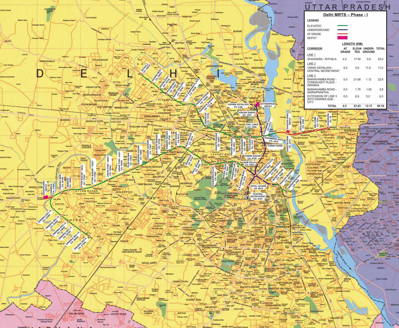 Delhi Metro Route Map 2015 Pdf