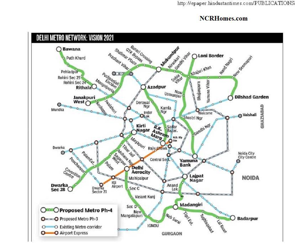 Route delhi map pdf metro 2015
