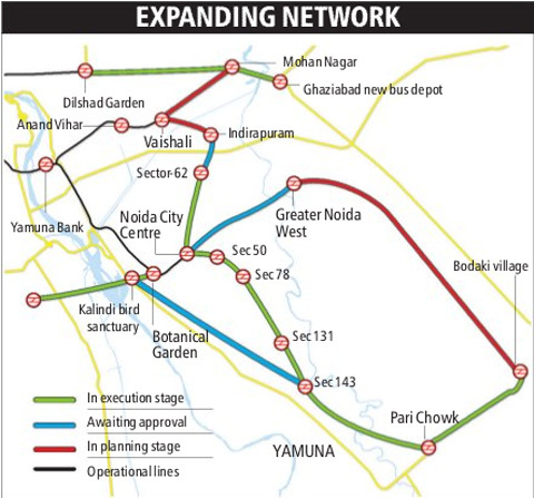 Metro Plans To Loop Noida Greater Noida Ghaziabad