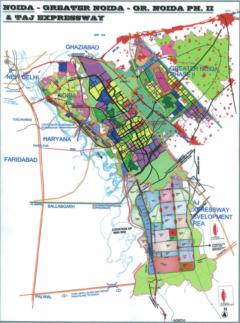 Greater Noida Map NCR Maps   NCRHomes.  Latest News on NCR Delhi Realty & Infra  Greater Noida Map